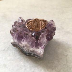 Antique 10K Gold Signet Ring